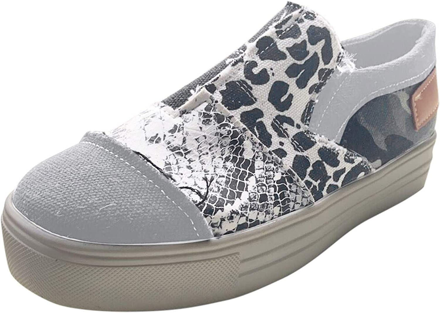 ZiSUGP Women Casual Canvas Sneakers Slip Shoes Low price Low Mail order cheap On Top Walkin