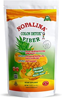 NOPALINA Flax Seed Plus Fiber Colon Detox 1lb - Pineapple Flavor (1LB)