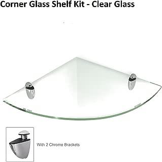Fab Glass and Mirror Corner Glass Shelf, 6