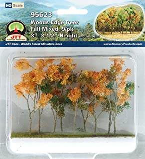 Woods Edge Trees Fall Mixed 3'' to 3.5'' HO-scale 9/pk