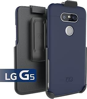 LG G5 Holster Belt Clip Case, (SlimSHIELD Series) Ultra Slim Hybrid Shell + Durable Protection (Deep Blue)