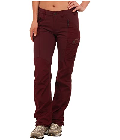 Fjallraven Nikka Trousers (Dark Garnet) Women