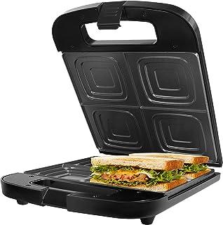 Gotoll Sandwichera para 4 Sándwiches con Placas Antiadherentes,Libre de PTFE, PFOA,1400 WTostado Rápido y Uniforme(24X22cm