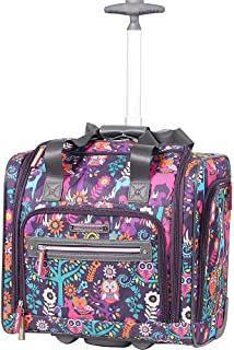 Lily Bloom Under the Seat Design Pattern Carry on Bag With Wheels (15in Wildwoods)