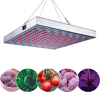 Grow Lamp for Indoor Plants Veg and Flower Veg and Bloom Double Switch Tinnyfy 1100W Plant Grow Lights with Rotate Button Controls 0/%-100/% Adjustment Brightness LED Grow Light 44 LEDs + 1 COB
