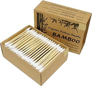 Two Tips I Bamboo Cotton Swabs I 200ct Biodegradable I Organic I Natural Cotton I Plastic Free I Ecological Choise to Redu...
