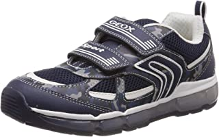 Geox Kids' Android Boy 21 Light Up Velcro Sneaker