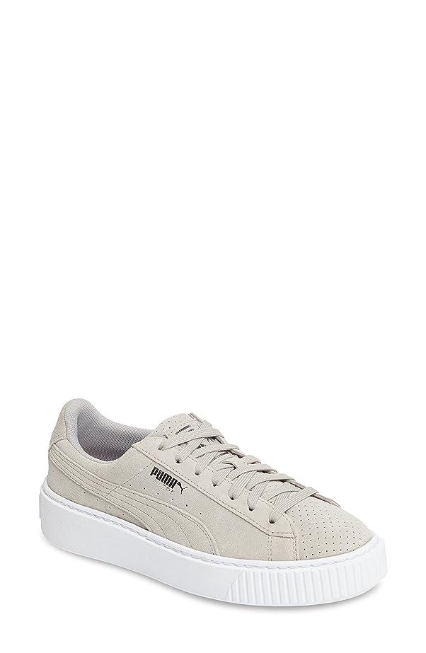 セント感じ薬局プーマ シューズ スニーカー PUMA Basket Platform Sneaker (Women) Grey Viole [並行輸入品]