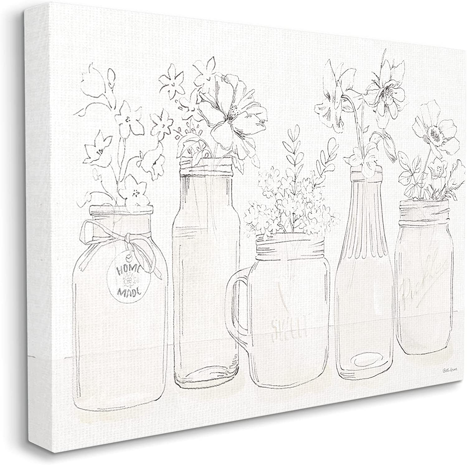 Stupell Cheap super special price Industries Soft Max 60% OFF Muted Country Flower Glass Arrangements