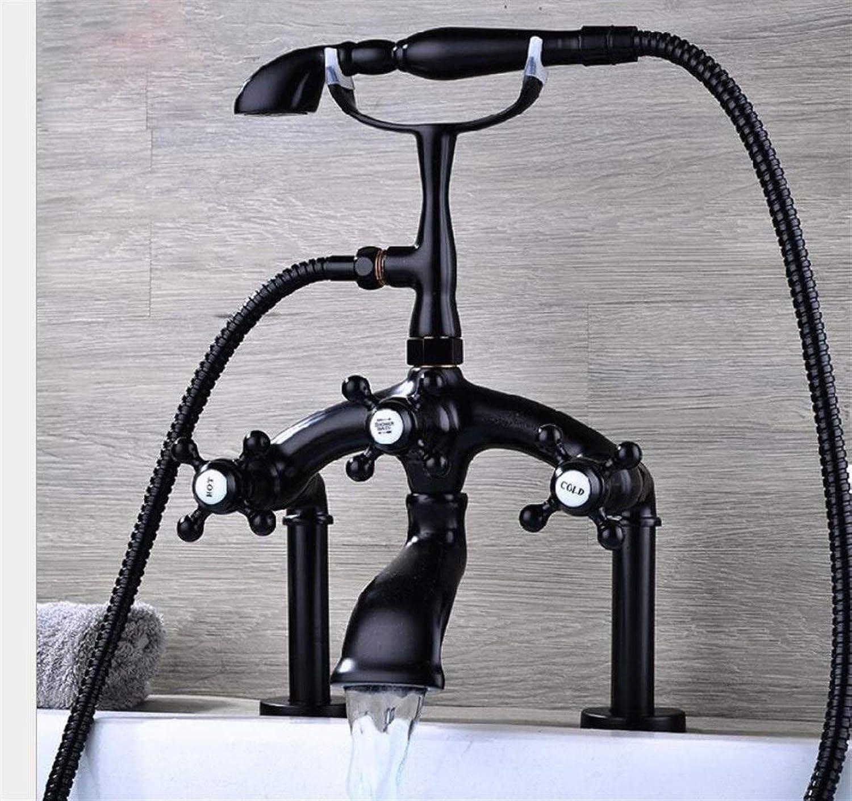 Badewanne Filler Duscharmatur mit Handbrause Badewannenarmatur Chrom Luxus Dusche Mischbatterie (Farbe   02)