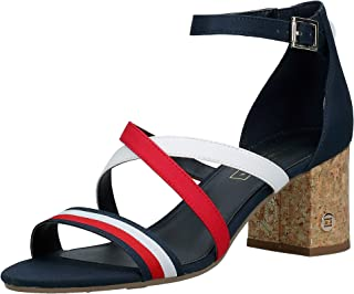 Tommy Hilfiger CORPORATE DETAIL MID, Women's Fashion Sandals, Blue