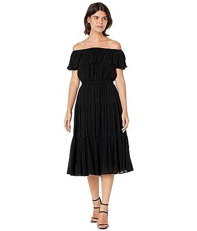 MICHAEL Michael Kors Petite Off Shoulder Midi Dress