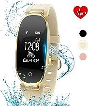 kingkok Elegant Waterproof Fitness Tracker for Women Smart Bluetooth Pedometer Watch Band Multi-Mode Wireless Activity Tracker Bracelet