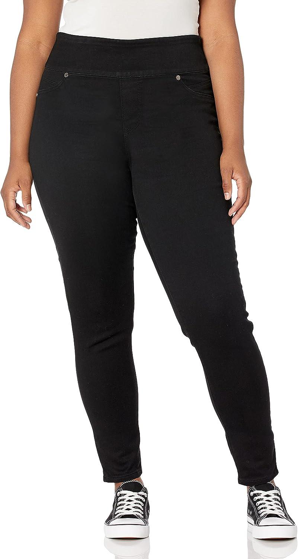 Seven7 Women's Plus Size Ultra High Rise Tummy Toner Skinny Jean