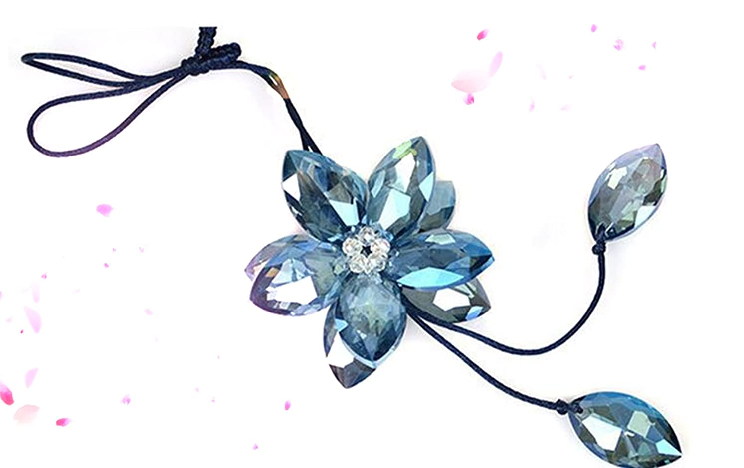 Auto Accessories Car Charm/Pendant/Jushi -Crystal Lovely BLue Snow Flower /Snowflake Car Charm/Pendant/ Auto Rearview Mirror Ornament Accessories-Good For Holiday, Gift--1PC--- From NY