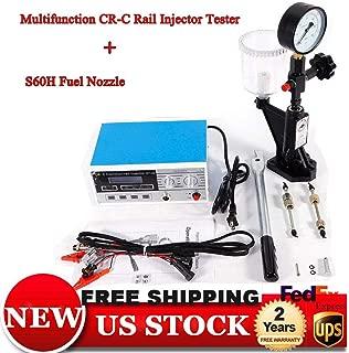 Common Rail Injector Tester Kit, CR-C Multifunction Common Rail Injector Tester Diesel Injector Tester + S60H Kit for bosch/delphi (US Stock)