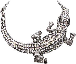Rosemarie & Jubalee Women's Stunning Statement Crystal Rhinestone Alligator Choker Necklace