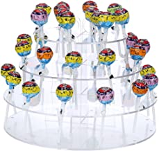 Portable Round Clear Acrylic 4-Tier Lollipops Cake Pop Stand 35 Holes