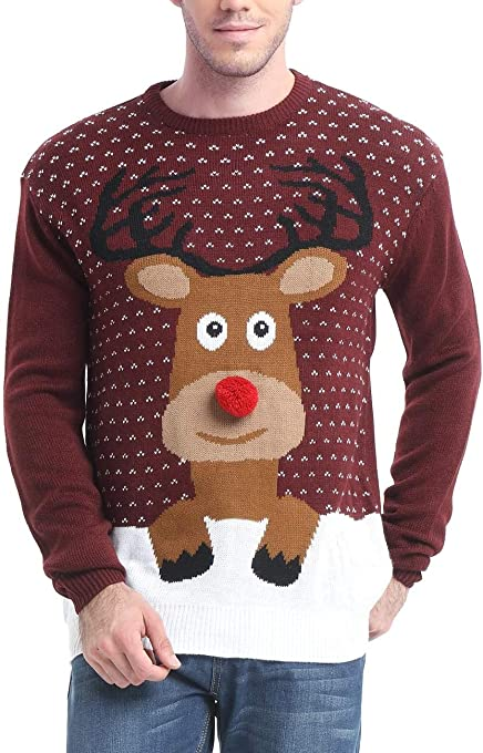 *daisysboutique* Men's Holiday Reindeer Snowman Santa Snowflakes Sweater