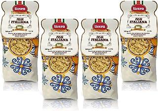 Livera Gigli Ricci Bio 4 X 500 Gr, Pasta Cortas BIO de Sémola de Trigo Duro Bio 100% Made in Italy, Gigli Ricci Elaborada en Bronce, Empaque de Pasta Seca de Alta Calidad, Cocina 12'