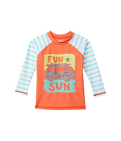 Hatley Kids Fun In The Sun Long Sleeve Rashguard (Toddler/Little Kids/Big Kids) (Orange) Boy