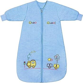2.5 Tog 0-6 meses B/úho Saco de dormir para beb/é Slumbersac con Mangas Largas REMOVIBLES