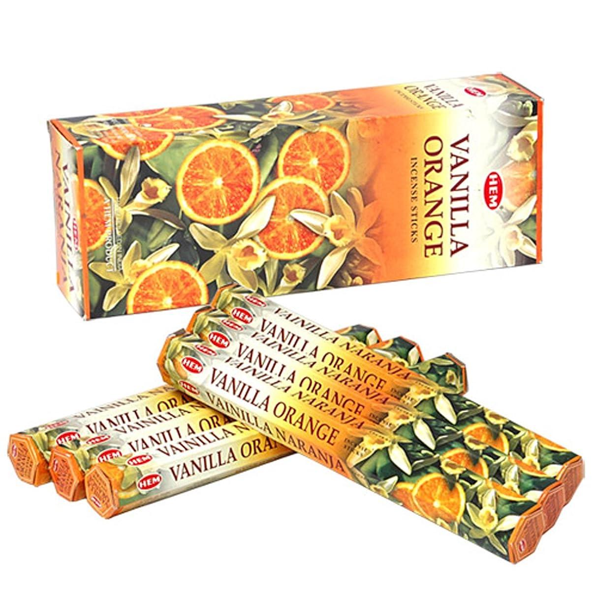 通行料金レール精神HEM(ヘム) バニラオレンジ VANILLA ORANGE スティックタイプ お香 6筒 セット [並行輸入品]