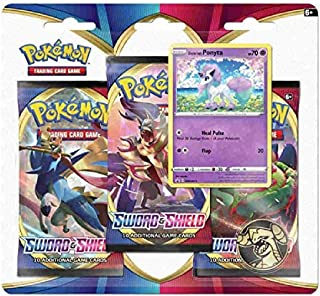 Pokemon TCG: Sword & Shield Blister Pack with 3 Booster Packs and Featuring Ponyta