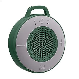 Amazon Basics Kabelloser Dusch Lautsprecher mit 5 W Treiber, Saugnapf, eingebautem Mikrofon, Grün
