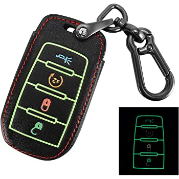 Black+Red 2Pcs Smart Key Fob Case Cover Protector for 2017-2019 Chrysler Pacifica 7-Button Smart Key