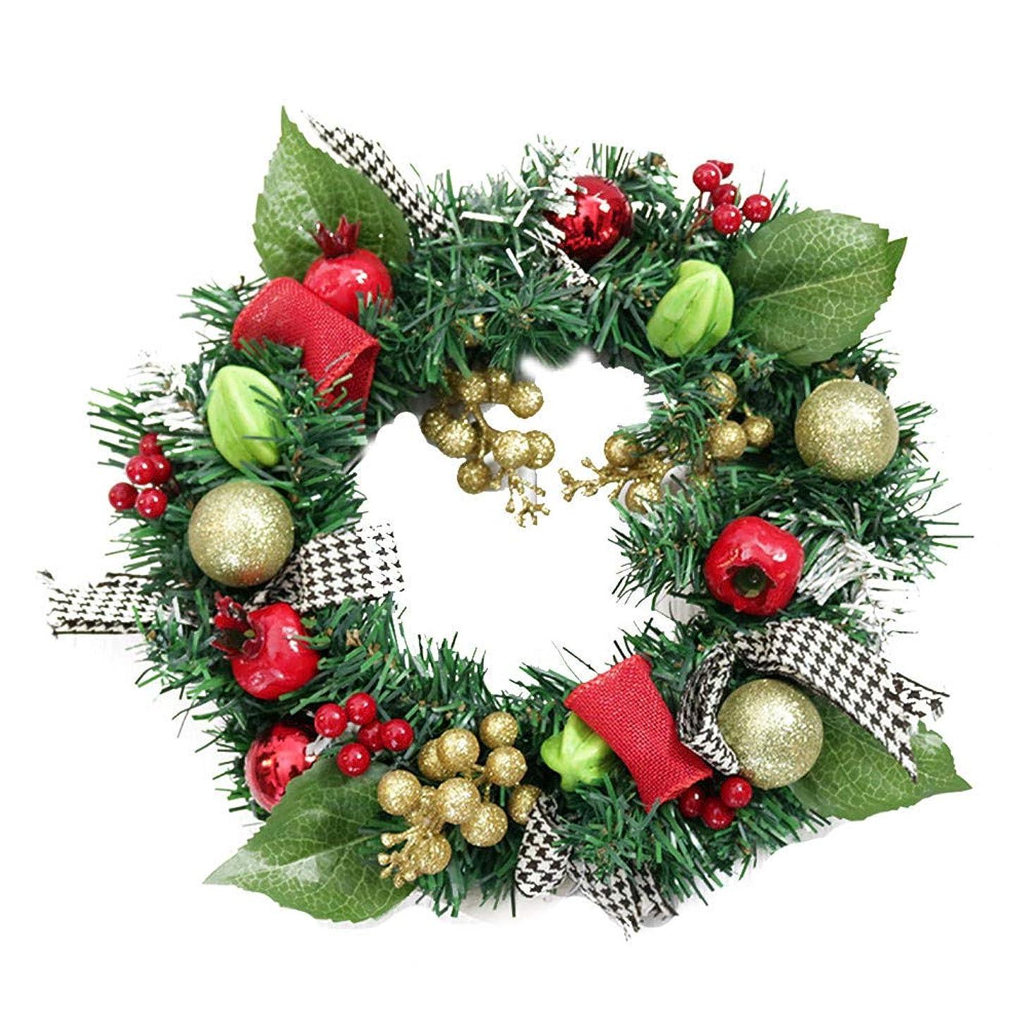 Christmas Wreath, Sacow 30cm Artificial Christmas Garland Berry Wreath Pine Cone Pendant Wall Decor Wreath (A)