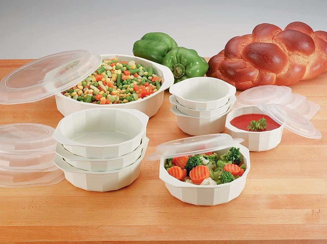 LaCuisine KTMW18 18 Piece Microwave Cookware Set White