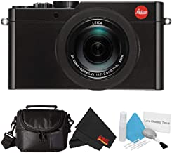 Leica D-Lux (Type 109) 12.8 Megapixel Digital Camera with 3.0-Inch LCD (Black) (18471) Bundle with Carrying Case and Lens Cleaning Kit