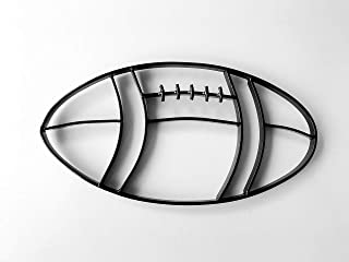 metal football wall decor