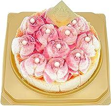 ランジェラ 冷凍生ケーキ メルティーローズ ベイクドチーズケーキ 4号 5号 (デコレーションケーキ チーズケーキ 誕生日ケーキ バラのケーキ 薔薇) (4号)