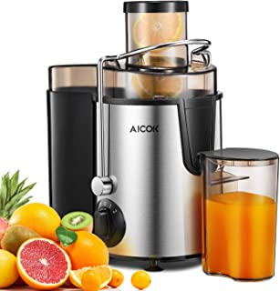 "Juicer Aicok Centrifugal Juicer Machine Easy to Clean, 3 Speed Juicer Extractor Machine Wide 3"" Feed Chute for Whole Fruit and Vegetable, Anti-Drip Spout, Stainless Steel and BPA free"