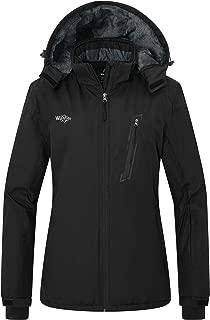 Women's Waterproof Ski Fleece Jacket Windproof Parka Winter Rain Coat