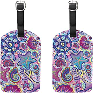 MASSIKOA Marine Cruise Luggage Tags Suitcase Labels Bag,2 Pack