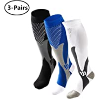 3-Pairs Ruzishun Compression Athletic Men Socks