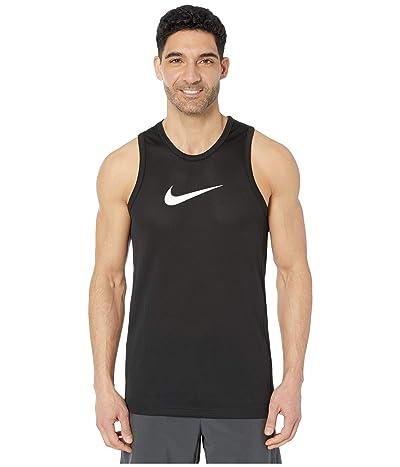 Nike Dry Top Sleeveless Crossover (Black/Dark Smoke Grey) Men
