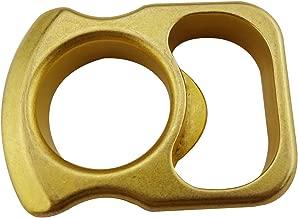 Plum Garden Multi Function Tool EDC Solid Brass Bottle Opener, Pocket Keychain