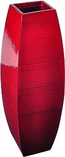 Lerman Décor SBV11 Bamboo Vase, Red