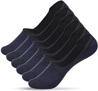 UMIPUBO, 10/6 pares de calcetines de algodón para hombre, transpirables, antiolor e invisibles 6 pares azul marino Taille unique