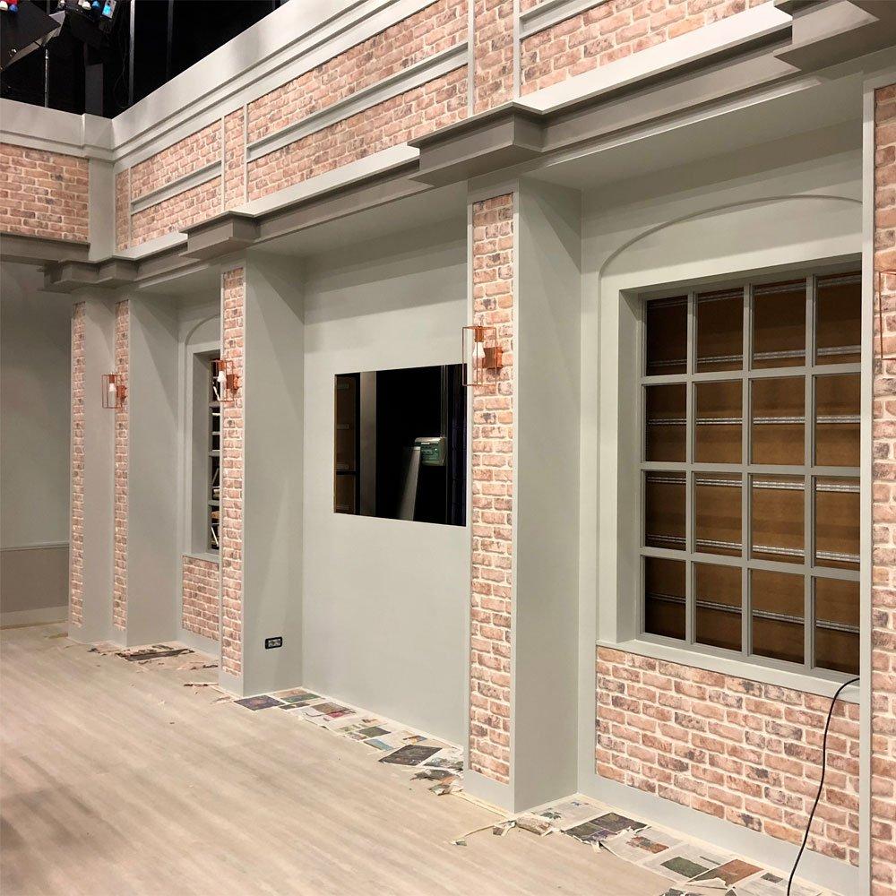 Decoresin Panel Falso Ladrillo reconstruido de Poliestireno resinoso SHABBY 110 cm x 56 cm Decorativo y termoaislante