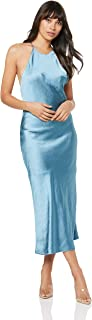 THIRD FORM Women's Bias High Neck Slip Dress
