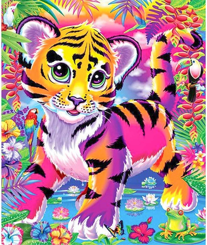 Mercancía de alta calidad y servicio conveniente y honesto. Color Tiger Salón Salón Salón Dormitorio Decoración del hogar Pintura diamante 70x90cm  punto de venta