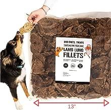 Filetes de pulmón de cordero para perros: masticables para perros y cachorros | Bolsa enorme! El | Hecho en EE. UU. | Golosinas totalmente naturales | Crujiente no desmenuzable | Perros grandes y pequeños | Smoky Flavor Dogs Love | 10 oz.