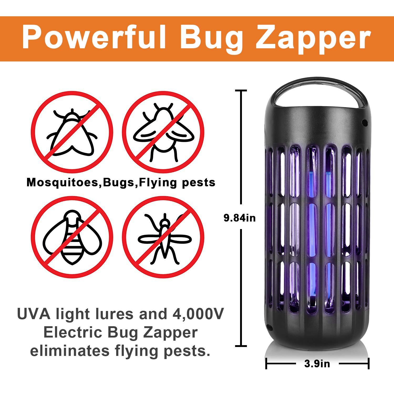 /USB polvere indoor antizanzare Mosquito Killer Mosquito trappola Bug Zapper luce lampada zanzara Catcher Killer trappola per cucina camera da letto giardino Taglia unica rosa LED elettronico Insect Killer/