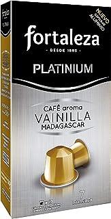 Café Fortaleza - Cápsulas De Aluminio Café Con Aroma Vainilla Madagascar Compatibles Con Nespresso - Pack 5 X 10 - Total 50 Cápsulas