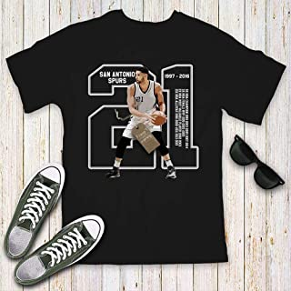 Duncan Basketball Tim Coach No. 21 Champions Jersey Customized Handmade T-Shirt Hoodie/Long Sleeve/Tank Top/Sweatshirt